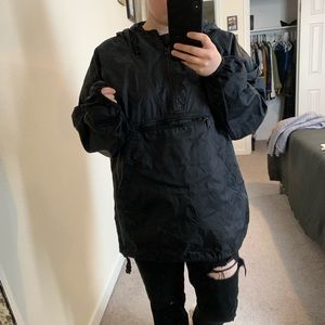 Old Navy Black Anorak Rain Jacket Size Small
